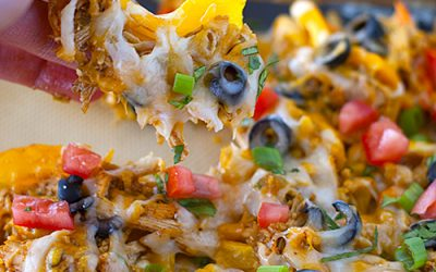 Sweet Pepper Chicken Nachos
