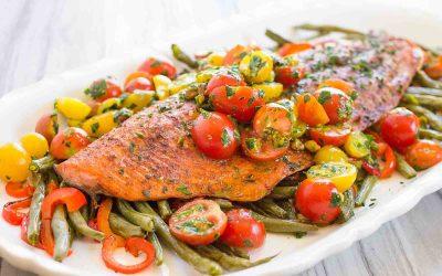 Single Pan Roasted Salmon & Vegetables